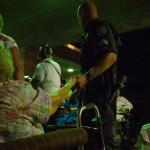 Sergeant Doug Stump comforts resident