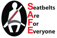 SAFE - Seatbelts are for everyone logo